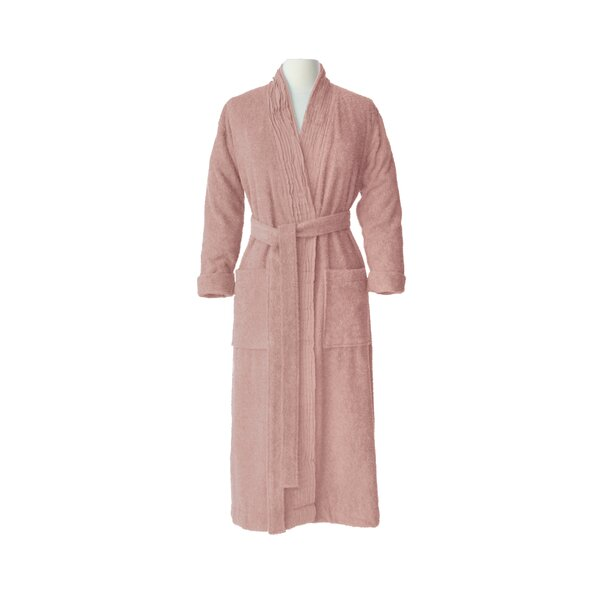 Pleated 100% Cotton Bathrobe by Nine Space